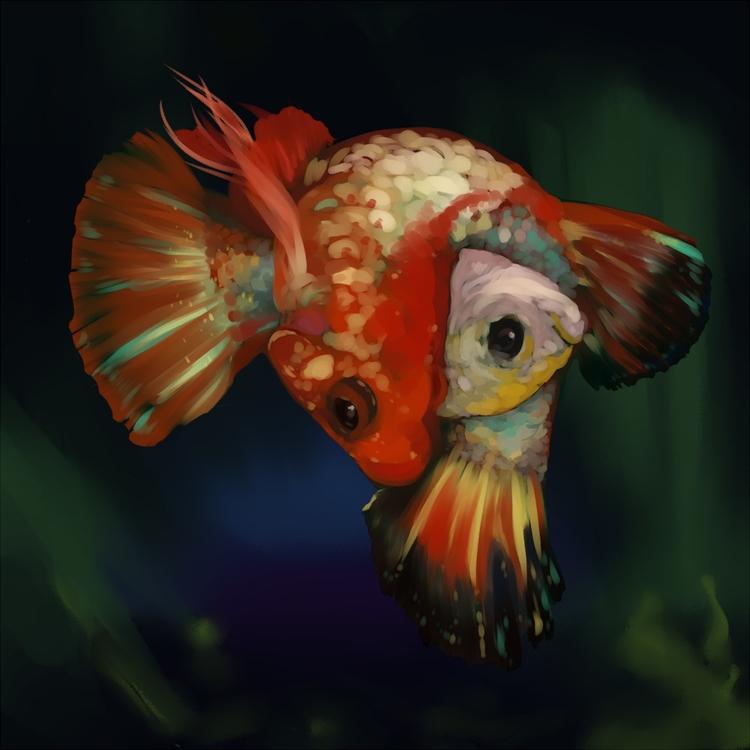 2 fish - reproduction, digitalart - tkmaw   ello