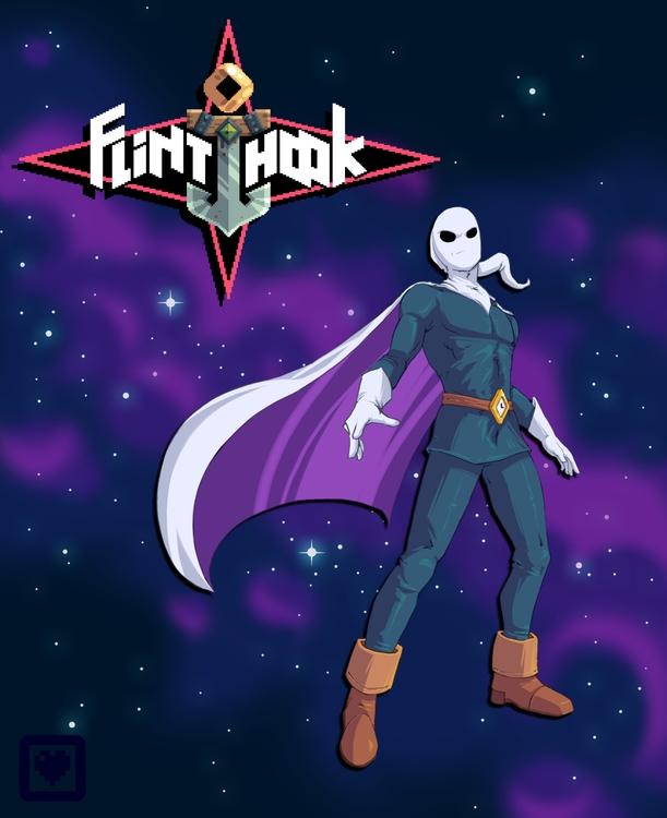 Flinthook Fanart - illustration - planckpixels | ello