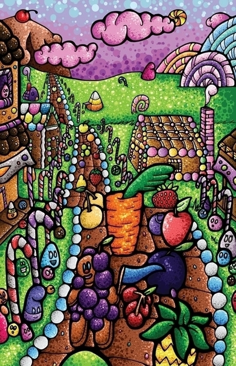 colorful piece artwork mind lov - jellysoupstudios | ello