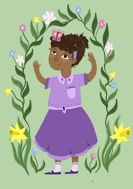Flowers - children'sillustration - ateepee   ello