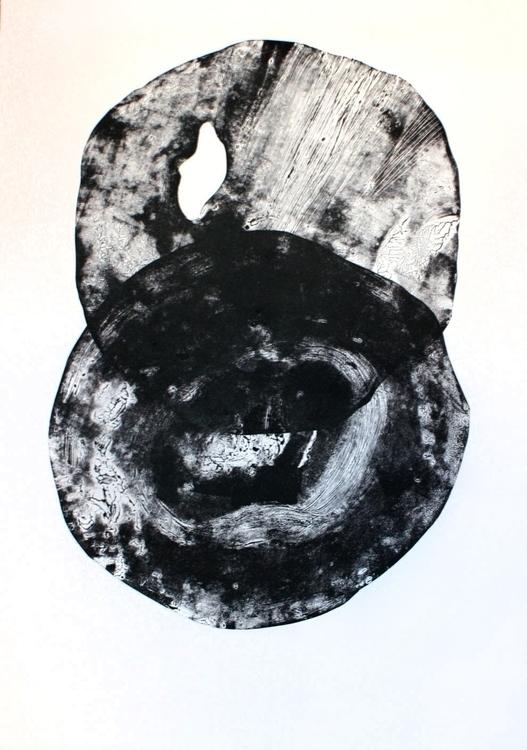 100x70, linocut, mixed media - graphic - judytacz | ello