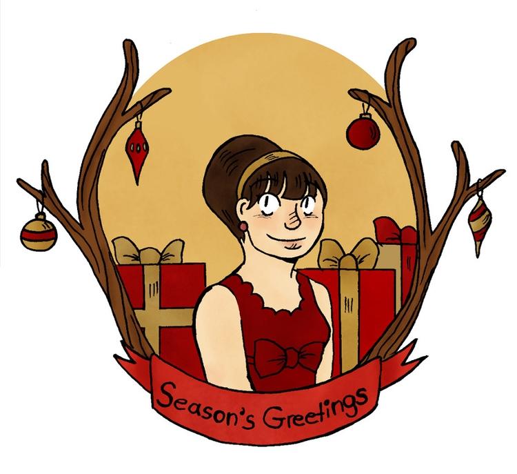 christmas card - illustration, christmascard - norathebean | ello