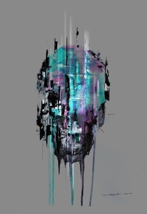 acrylic paper 2014 - iannocent, painting - iannocent | ello