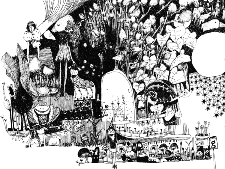 illustration, blackandwhite, creatures - tychonikum | ello