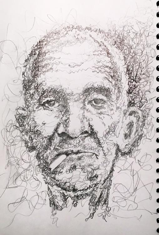 Man 2 - pencil, pencildrawing, oldman - quimmoya | ello