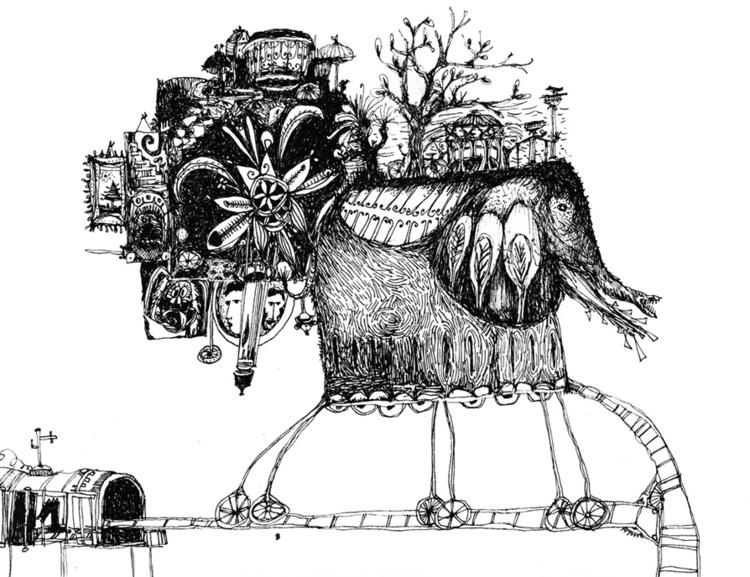 illustration, blackandwhite, creatures - tychonikum   ello