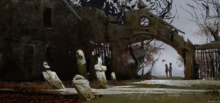Graveyard concept. Video - visualdevelopment - zacretz   ello