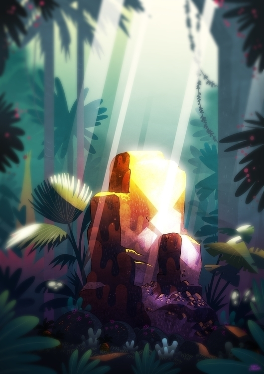 Jungle clearing - illustration, jungle - hugocuellar | ello