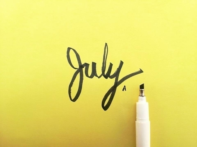 july - illustration, typography - eight_wonders | ello