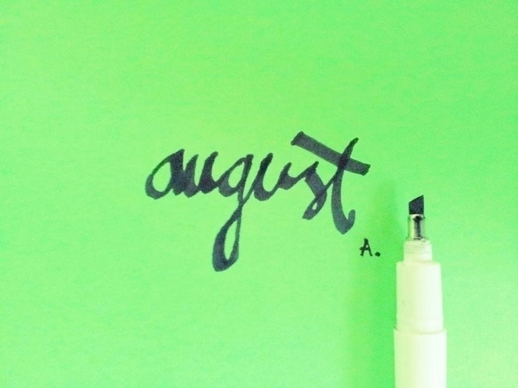 august - illustration, calligraphy - eight_wonders | ello