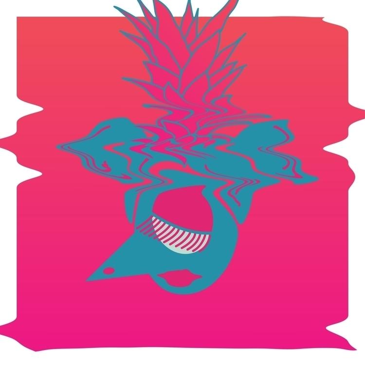 Pineapple Head - illustration, art - aznmade | ello