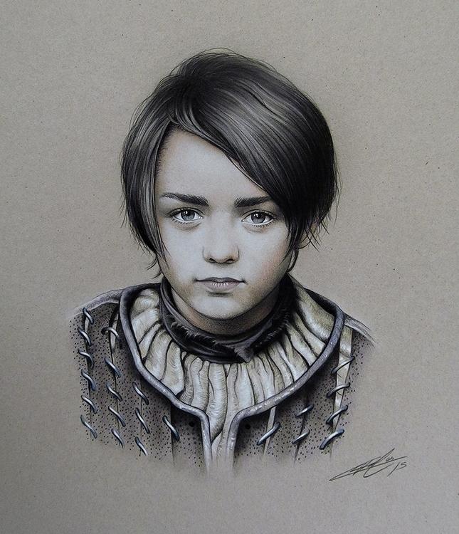 Fan-art Arya Stark airbrush col - jcberbes | ello