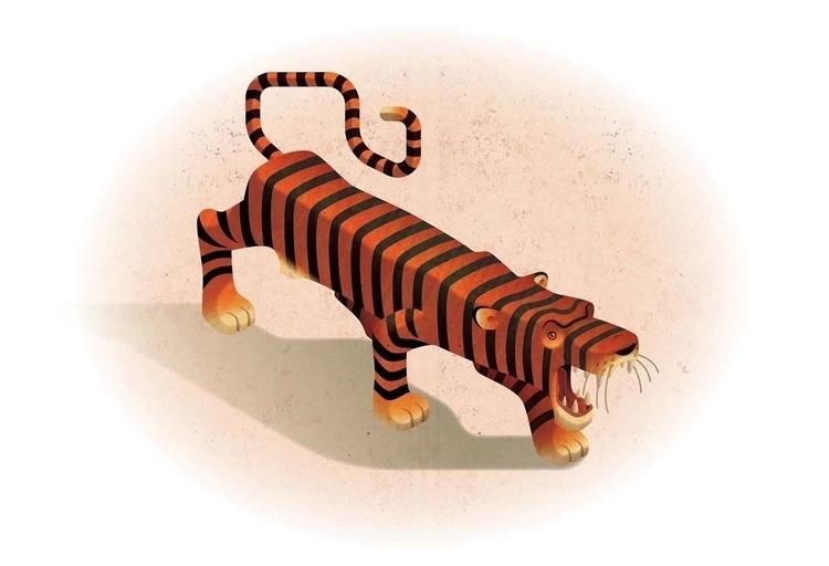 Tiger tourism illustration - olly-1031 | ello