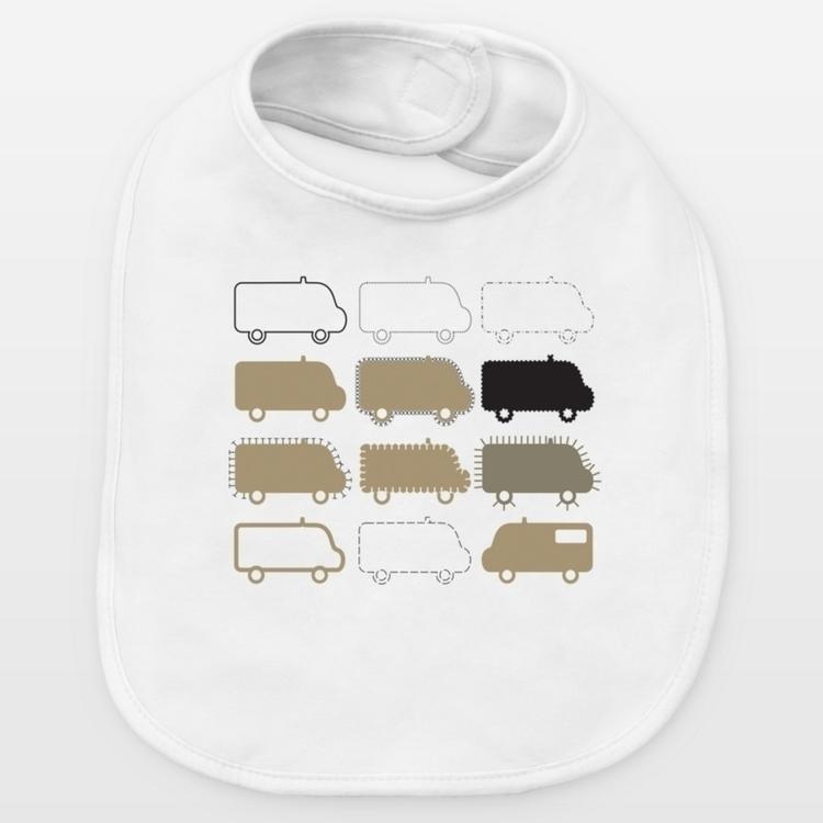 SOS vans baby bibs, created Gra - grabatdot | ello