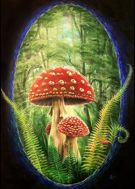 forest, mushroom, mushrooms, muscaria - bccreativity | ello