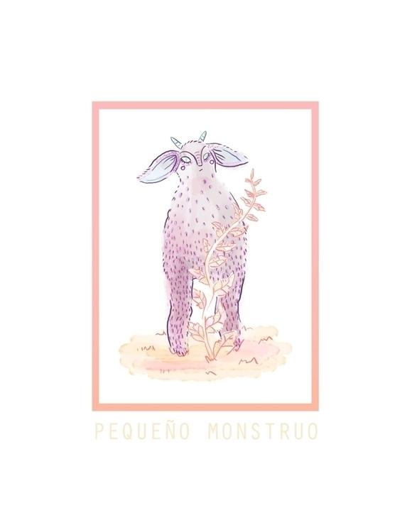 Pequeño Monstruo - monster, cute - sonialazo | ello