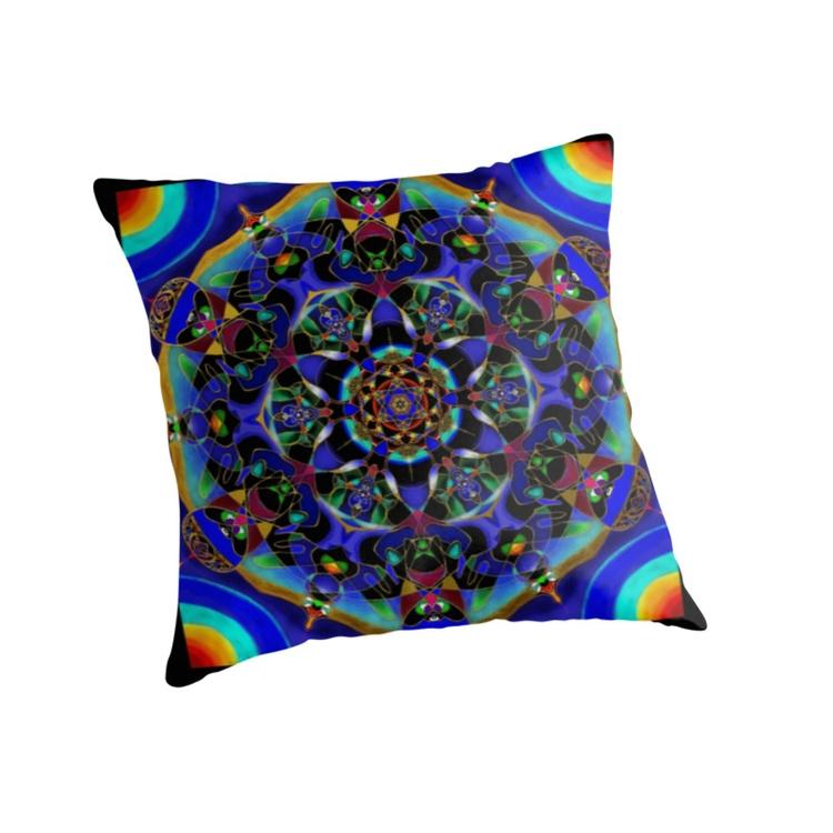pillow mandala - painting, digitalart - wolfgangschweizer | ello