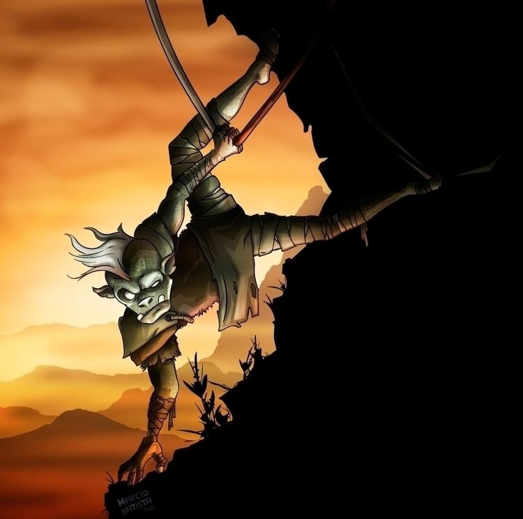 Goblin - illustration, characterdesign - marciobatista | ello