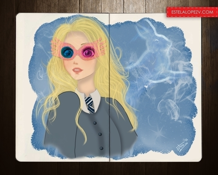 Luna Lovegood - illustration, painting - stelalo | ello
