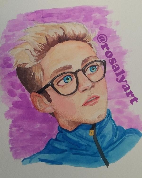 Niall Horan watercolor - illustration - rosalyart | ello
