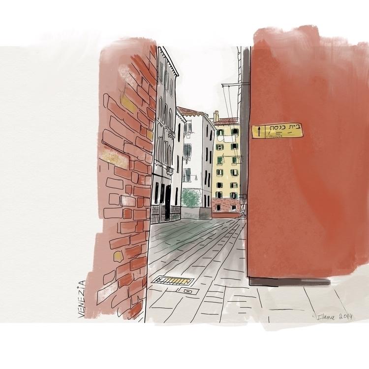 Venice - illustration, buildings - ilanagraf | ello