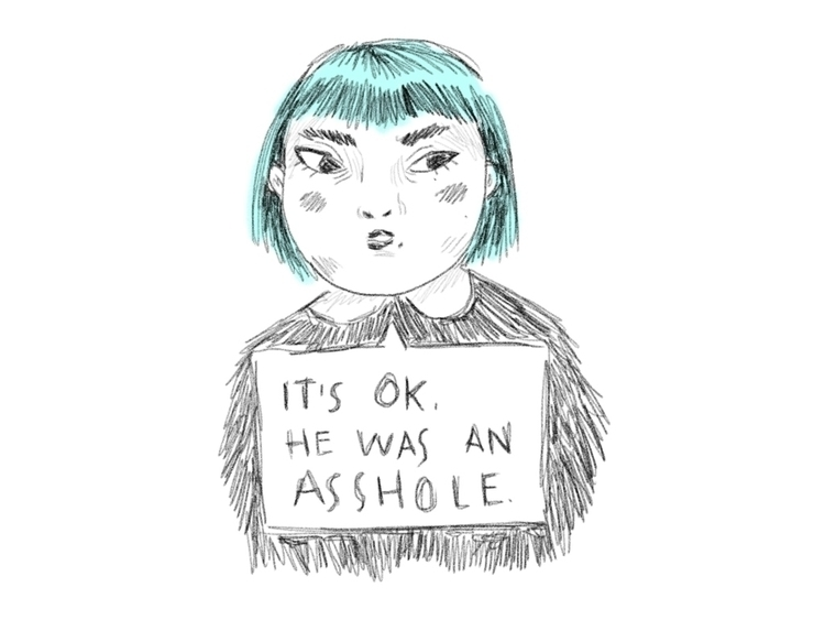 Asshole - girl, sketch, doodle, asshole - sonialazo | ello