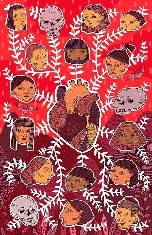 Latidos Ancestrales - mural, natives - sonialazo | ello