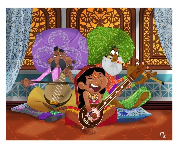 indianprincess, musicians, digitalillustration - finbarcoyle | ello