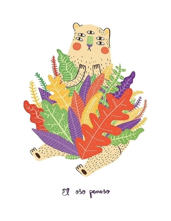 Oso Penoso - plants, bear, eyes - sonialazo | ello
