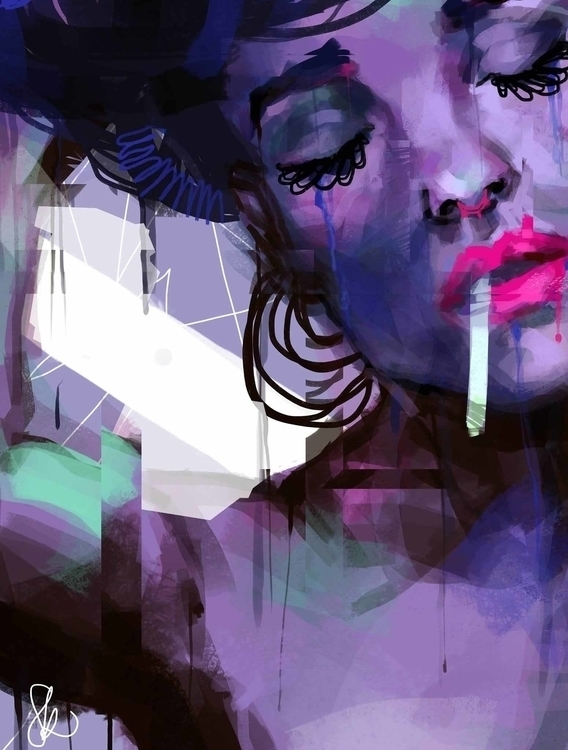 Pause - digitalart, digitalpainting - sandraknego | ello