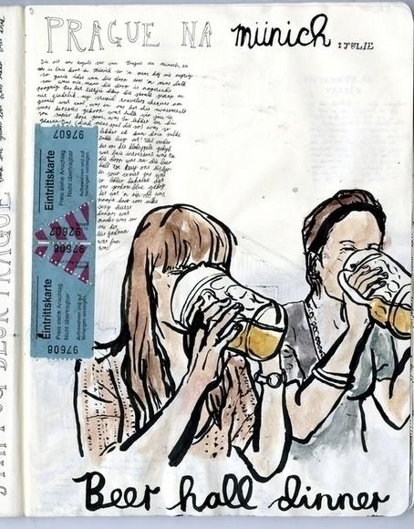 munich beer - illustration, drawing - miekevdmerwe   ello