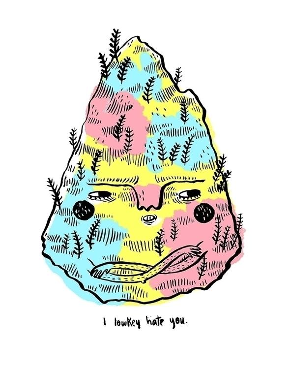Montaña - mountain, hate, character - sonialazo | ello