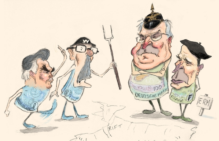 Britain leaves ERM - illustration - yazzum | ello