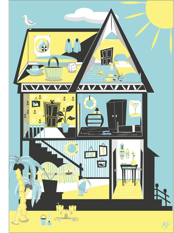 illustration, summer, house - mp-1845 | ello