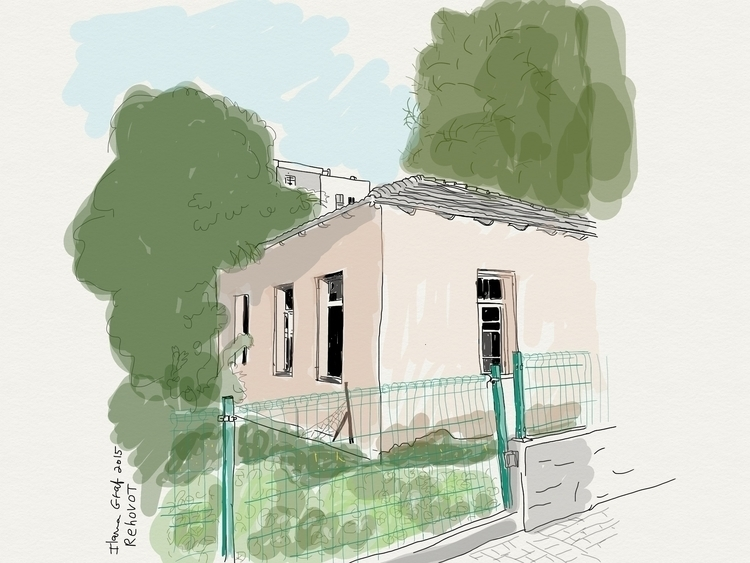 house, Rehovot israel - illustration - ilanagraf | ello