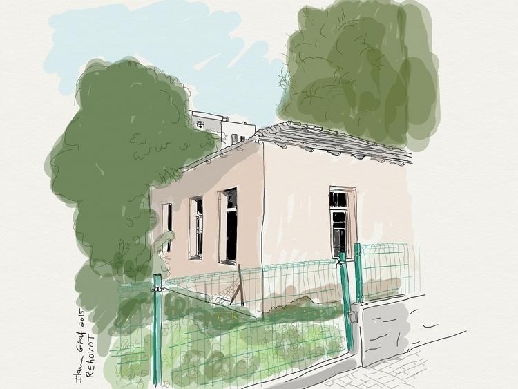 house, Rehovot israel - illustration - ilanagraf | ello