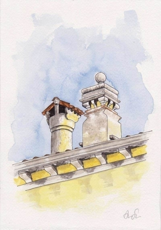 Original watercolor venetian ch - ariautas | ello
