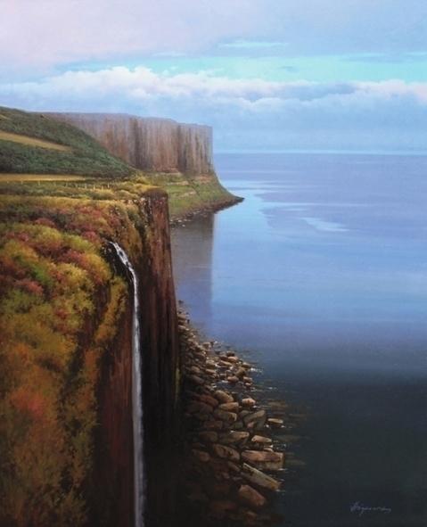 Acantilados de Escocia 100x81 c - josehiguera | ello