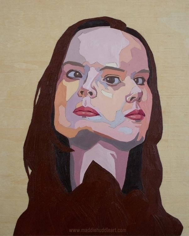 Chroma 6 Oil Wood - painting, portrait - maddiehud | ello