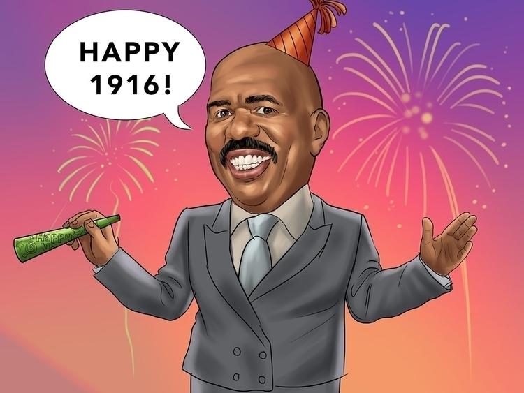 Happy Year - illustration, SteveHarvey - rogerbethke | ello