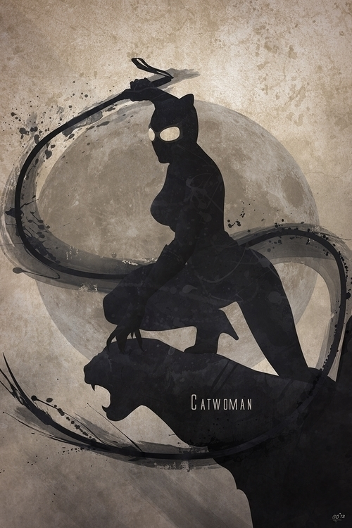 Inspired Catwoman, print compan - digitaltheory | ello