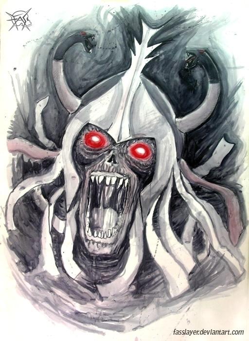 Mumm Ra, watercolor painting - mummy - fasslayer | ello