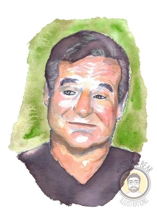 Robin Williams fan piece waterc - whistlingbear | ello