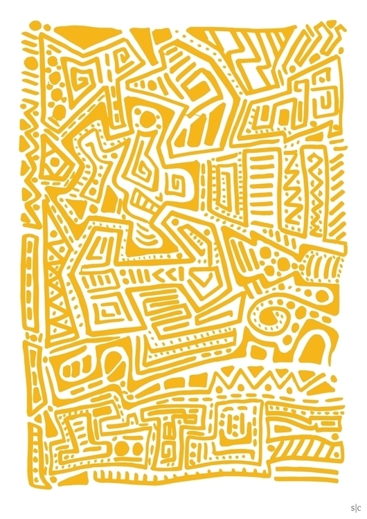 yellow Posca marker illustratio - stephencunniffe | ello