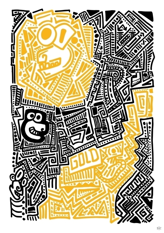 colour Posca illustration - posca - stephencunniffe | ello