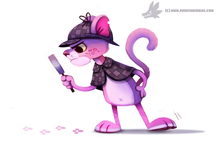 Daily Paint Pink Panther - 1042. - piperthibodeau | ello