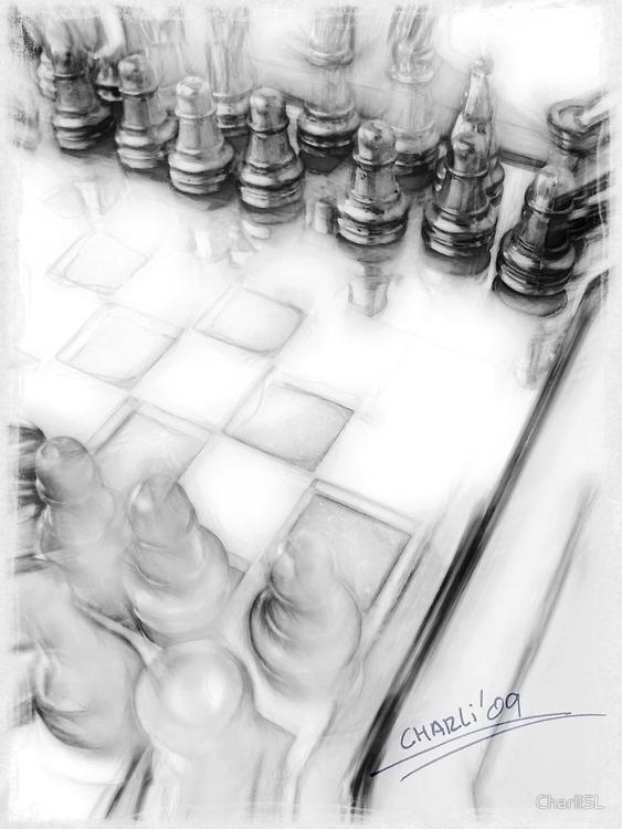 chess - illustration, photography - filigranasdigitales | ello