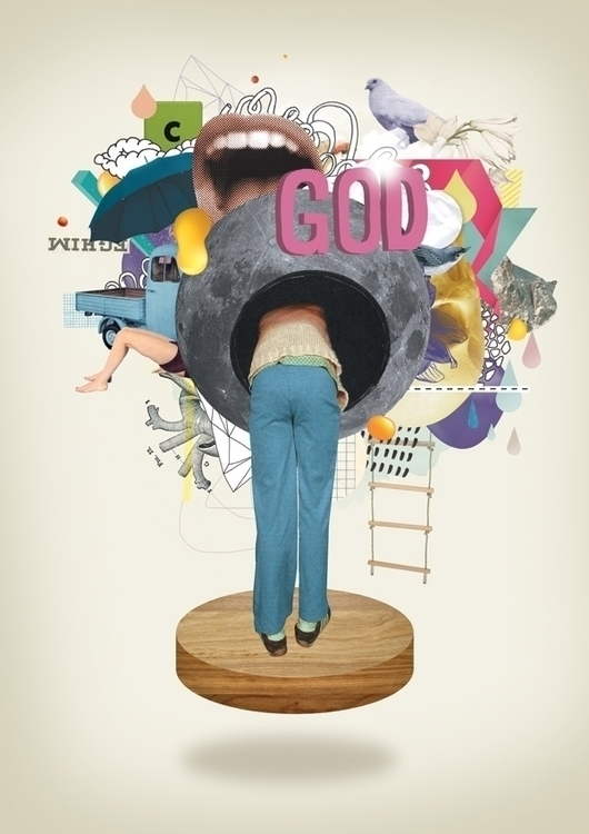 GOD - god, collage, colors, colors - nazariograziano-2835 | ello