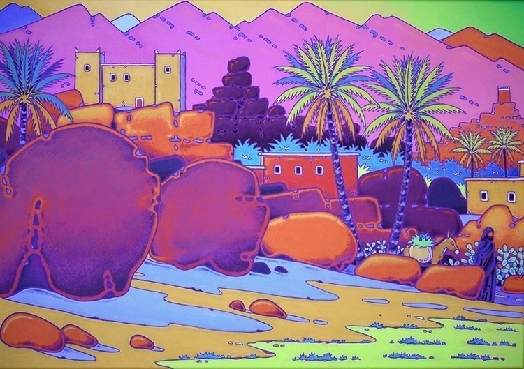 Atlas mountains Morocco acrylic - gillesmevel | ello