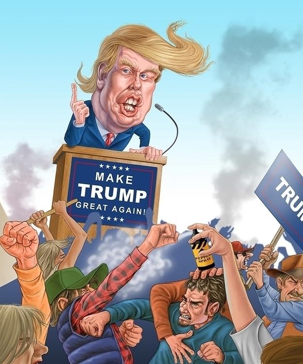 Donald Trump - illustration, humorous - rossger   ello